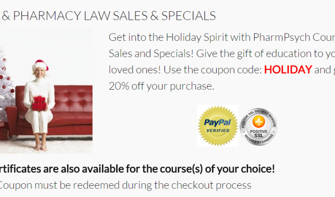 http://pharmpsych.com/courses/pharmacy-law-sales-specials/